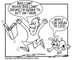Funny Cartoon Motivator - brilliant book!