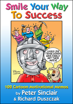 Smile Your Way To Success catoon book cover.