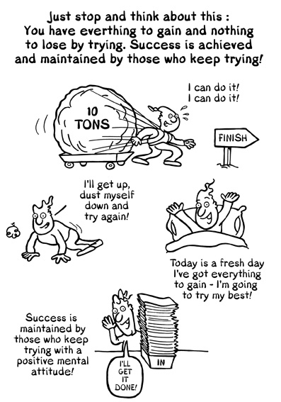Persistence Motivational Quotes Cartoon