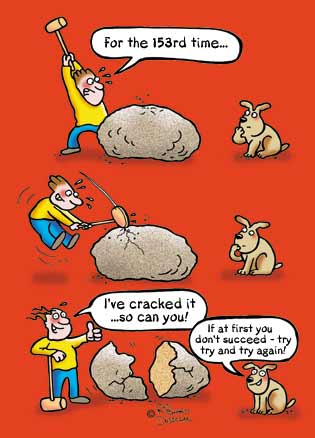Cracked It cartoon