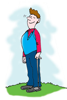 Deep Breathing golfer to calm your nerves!