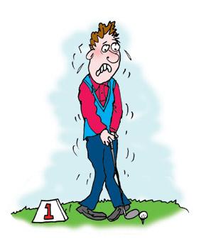 The Nervous Golfer cartoon