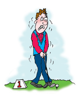 The Nervous Golfer cartoon