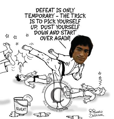 Bruce Lee cartoon!