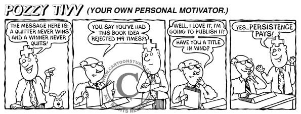Persistence Pays cartoon strip.