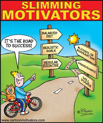 Slimming Motivator After The Easter Indulgences Cartoon Motivators