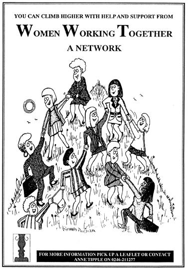 Women Working Together Cartoon Cartoon Motivators